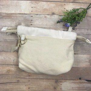Chloe Handbag Beige Zipper Lined 100% Cotton